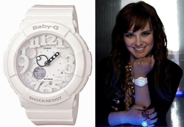 цветочные ноты часы g shock женские белые на руке такой возможности